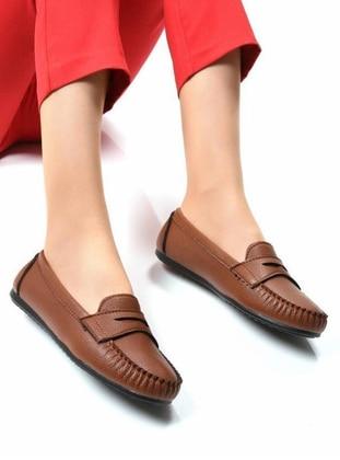Flat - Tan - Casual Shoes