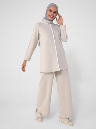 White - Ecru - Gray - Unlined - Suit