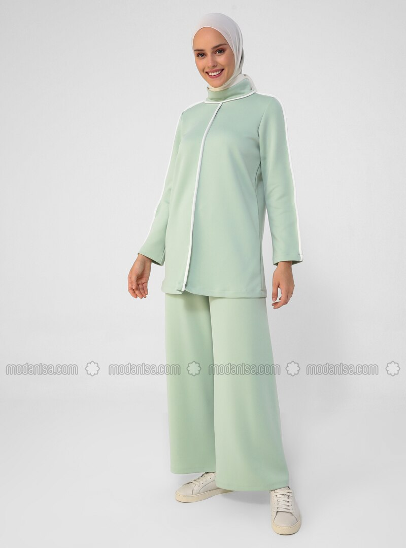 White - Ecru - Mint - Unlined - Suit