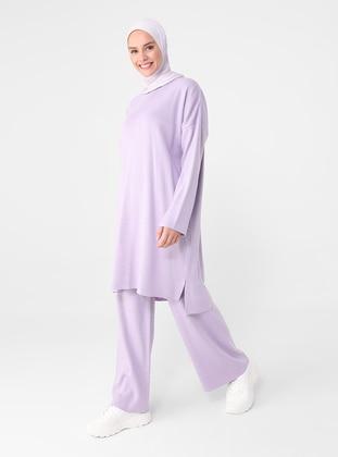Lilac - Acrylic - Triko - Pants