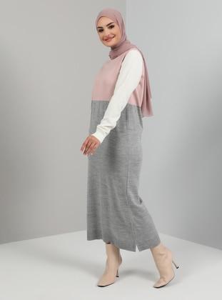 Powder - Unlined - Crew neck - Knit Dresses