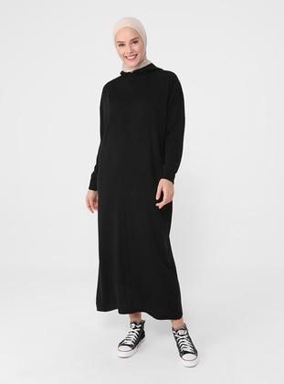 Black - Unlined - Knit Dresses