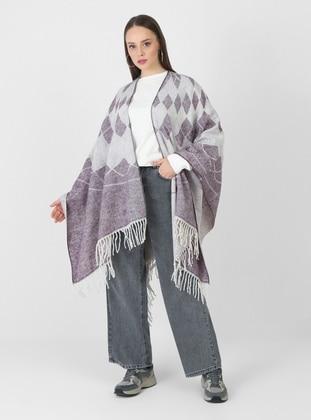 Purple - Multi - Unlined - Poncho
