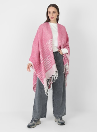 White - Pink - Multi - Unlined - Poncho