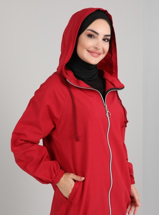 Red - Unlined - Coat
