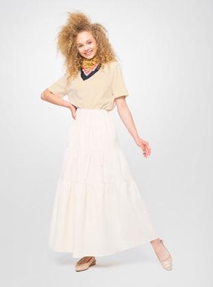 Beige - Unlined - Skirt