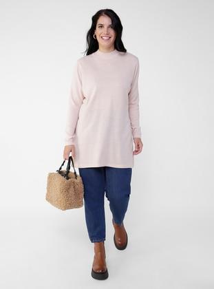 Powder - Crew neck - Plus Size Knit Tunics
