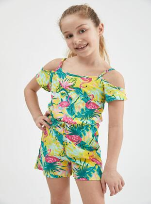 Yellow - Girls` Salopettes & Jumpsuits - DeFacto