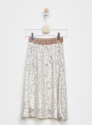 Gray - Girls` Skirt - Panço