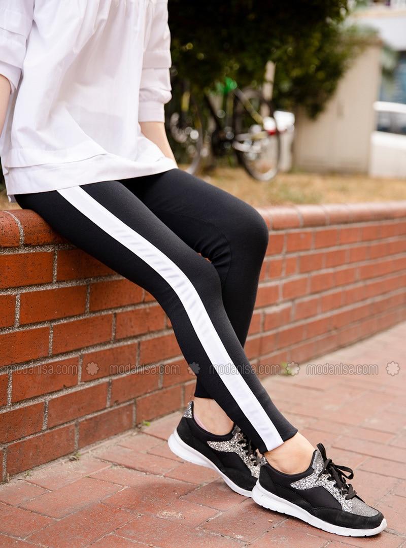 White - Black - Legging