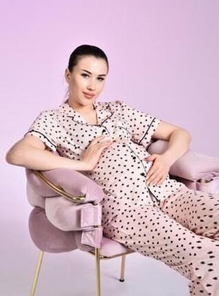 Pink - Multi - Maternity Pyjamas - Ladymina Pijama