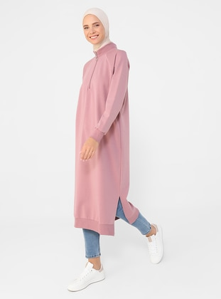 Polo neck - Cherry - Cotton - Sweat-shirt
