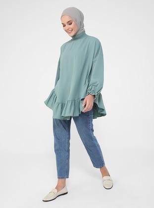 Green Almond - Green - Polo neck - Tunic
