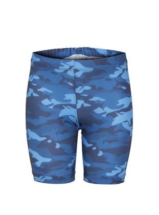 Multi - Crew neck - Dark Navy Blue - Boys` Shorts