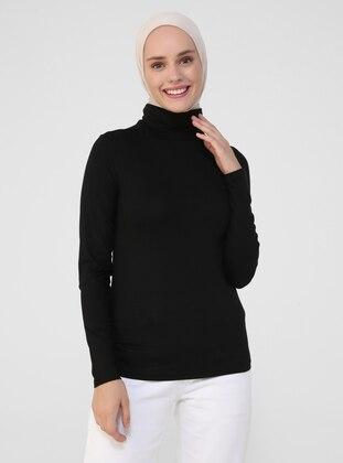 Black - Viscose - T-Shirt