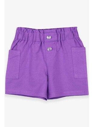 Purple - Girls` Shorts