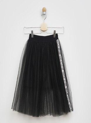 Black - Girls` Skirt - Panço