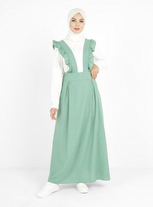 Green Almond - Sweatheart Neckline - Unlined - Modest Dress