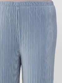 Ice Blue - Blue - Plus Size Pants