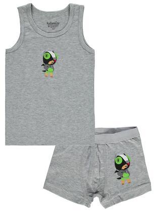 Gray - Kids Underwear - Civil