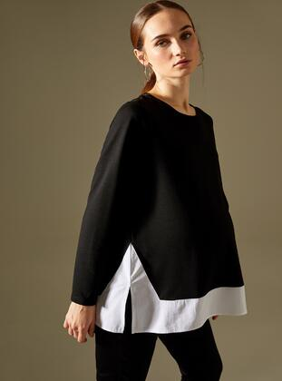 Black - Maternity Tunic / T-Shirt - DeFacto