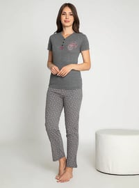 Smoke - Crew neck - Multi - Pyjama Set