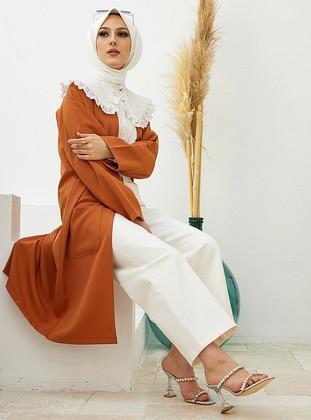Terra Cotta - Unlined - Round Collar - Cotton - - Jacket
