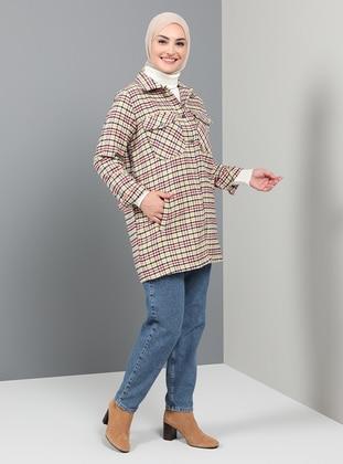 Multi - Plaid - Unlined - Point Collar - Coat