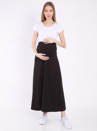 Black - Unlined - Maternity Skirt