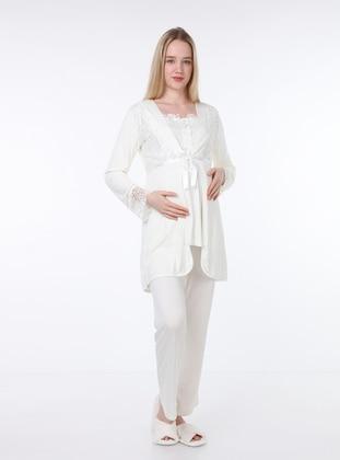 Ecru - Maternity Pyjamas - Luvmabelly