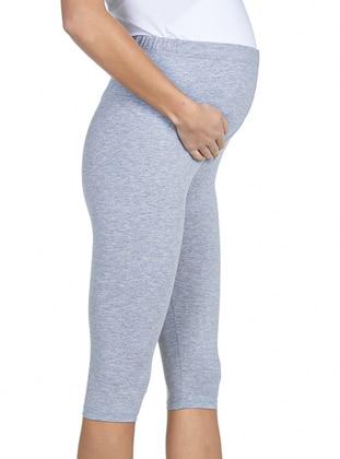 Gray - Maternity Leggings - Luvmabelly