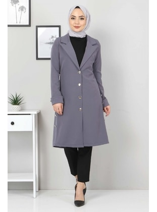 Gray - Unlined - Point Collar - Jacket