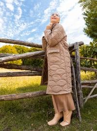 Mink - Fully Lined - Polo neck - Coat