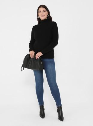 Dark Blue - Plus Size Pants