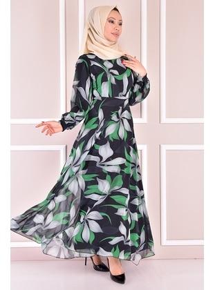 Green - Modest Dress