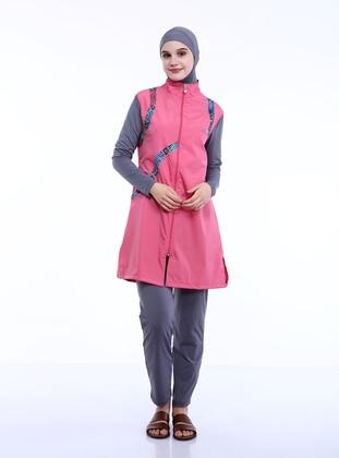 Pink - Full Coverage Swimsuit Burkini