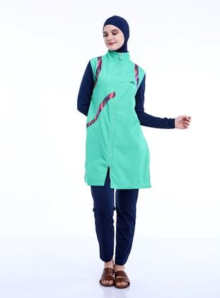 Green - Full Coverage Swimsuit Burkini