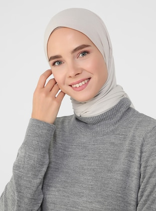 Gray - Unlined - Polo neck - Knit Dresses