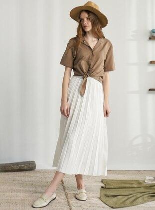 Ecru - Unlined - Skirt