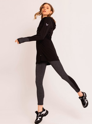 Gray - Activewear Tracksuit