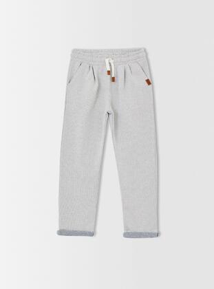 Gray - Boys` Sweatpants - DeFacto