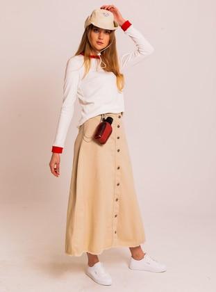 Camel - Unlined - Skirt