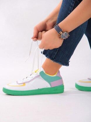 Navy Blue - Sport - Lazer Cut - Sports Shoes