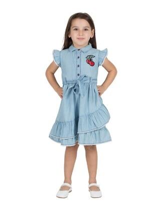 Light Blue - Girls` Dress