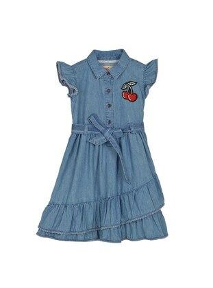 Dark Blue - Girls` Dress
