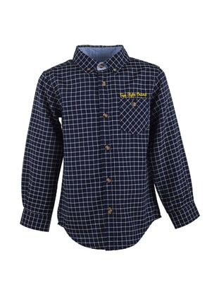 Navy Blue - Boys` Shirt