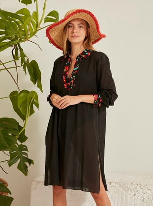 Black - Beach Dress - C&CITY