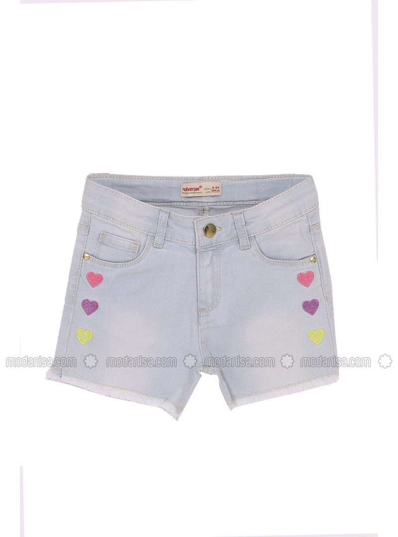 Light Blue - Girls` Shorts