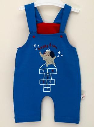 Multi - Unlined - Blue - Cotton - Baby Sleepsuit