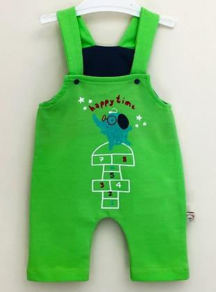 Multi - Unlined - Green - Cotton - Baby Sleepsuit